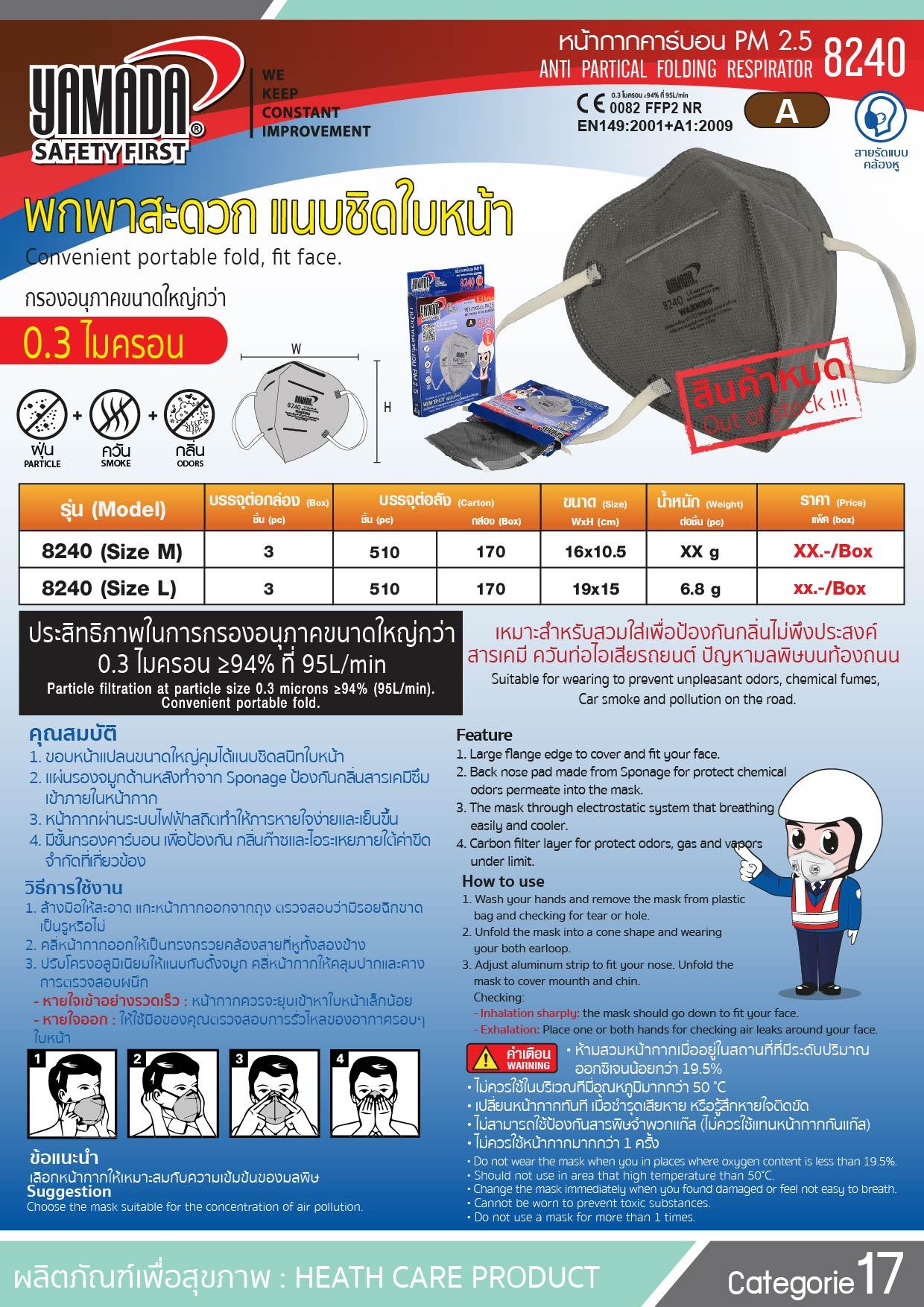 (11/13) หน้ากากคาร์บอน รุ่น 8240