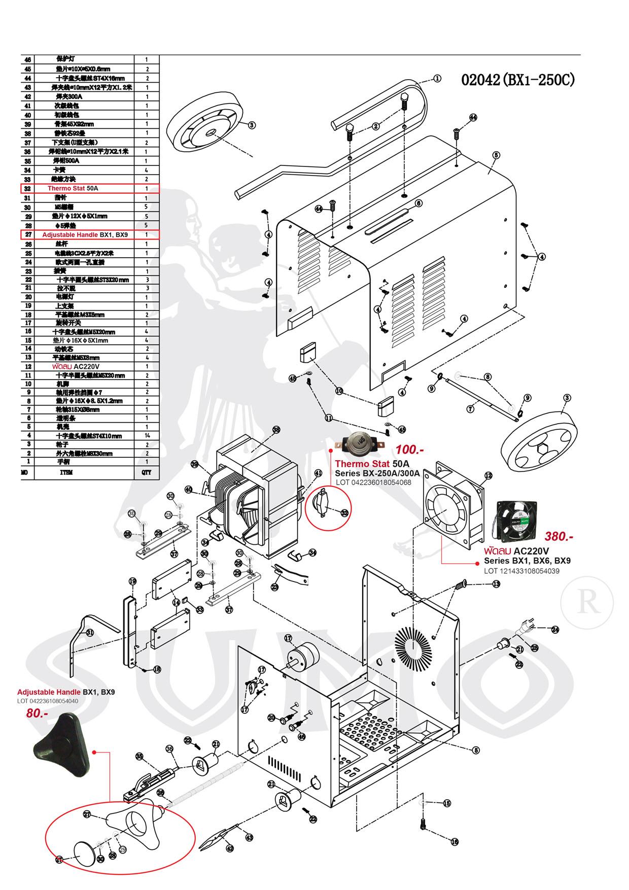 (103/239) เครื่องเชื่อมไฟฟ้า - Welding Machine BX6-300 Series