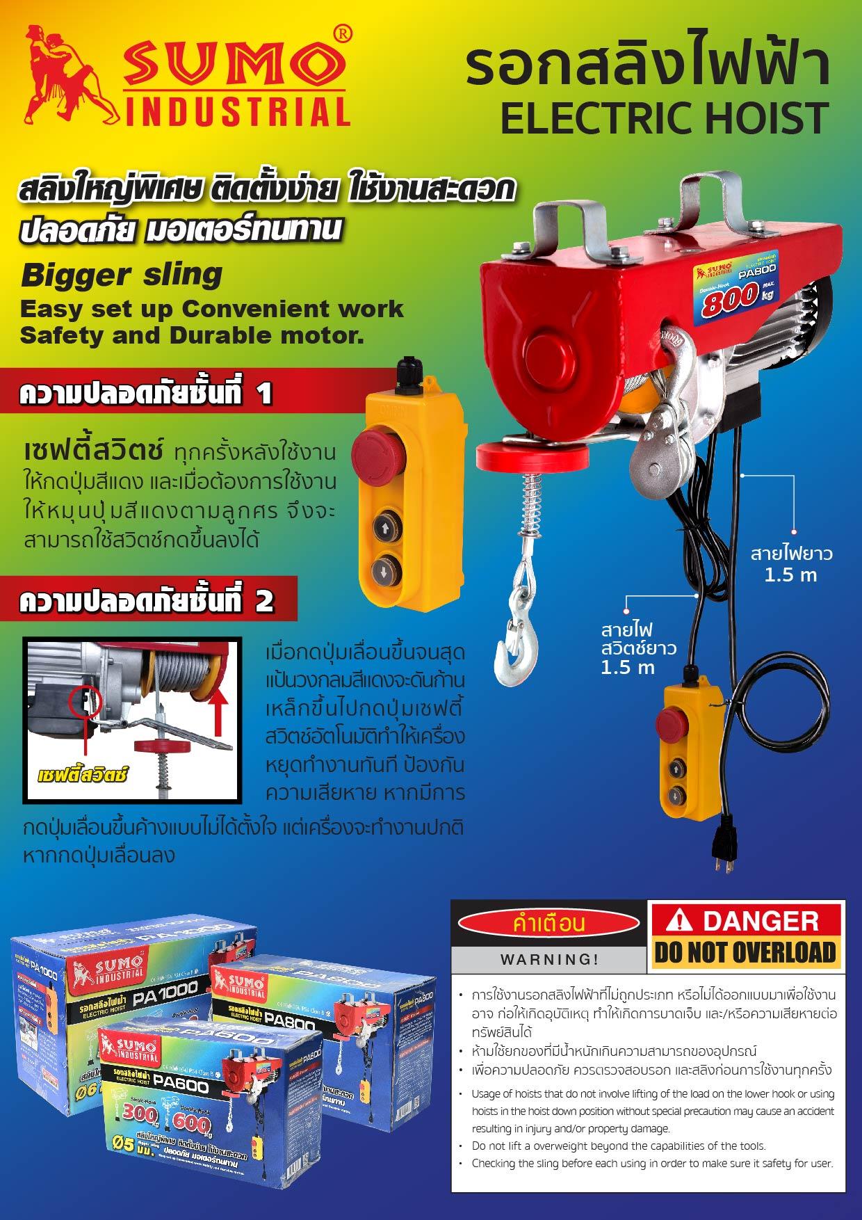 (1/12) รอกไฟฟ้า - Electric Hoist
