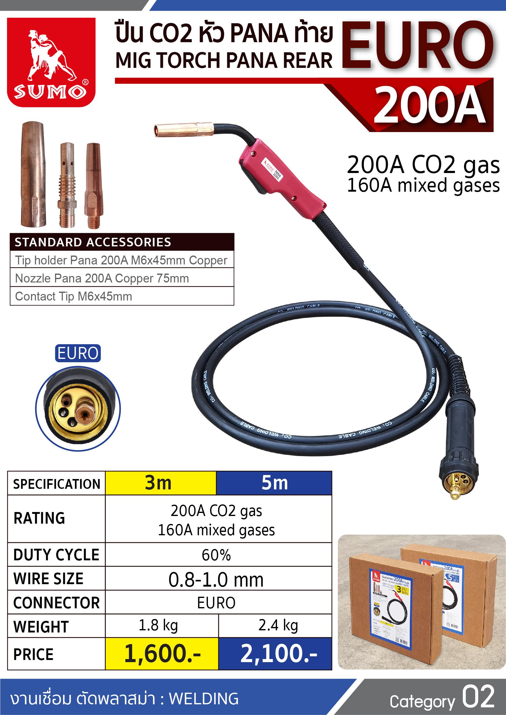 (19/277) ปืน CO2 PANA 200A EURO Tail