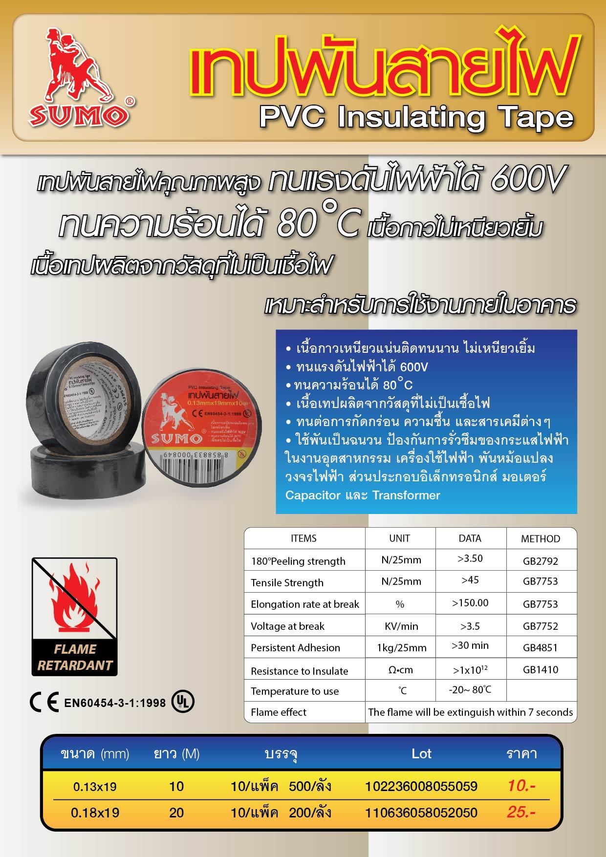 (52/112) เทปพันสายไฟ - PVC InsulatingTape