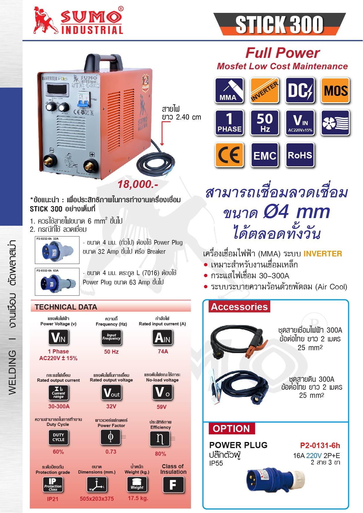 (19/19) เครื่องเชื่อมไฟฟ้า - Welding Machine  ARC300
